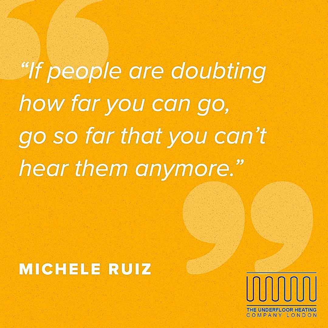 "#ThursdayThought - ""If people are doubting how far you can go, go so far that you can't hear them anymore."" – Michele Ruiz  #thursdayvibes #thursdaymorning #ThursdayMotivation #MotivationalQuotes"