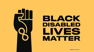 """Repost from @jtknoxroxs """"We cannot talk about #blacklivesmatter without talking about disabled black lives. About half of those who experience police violence are disabled. This is particularly true of black people with mental illness, autism and deafness."""""""