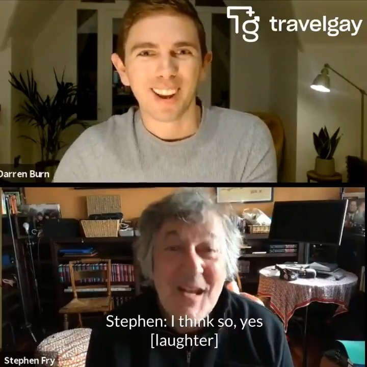 """I've learnt to forgive myself for days that aren't good,"" @stephenfry told @dazburn about how to cope with the pandemic. They also talked all things travel and plenty more. Watch the full interview at  ✈️ #stephenfry"