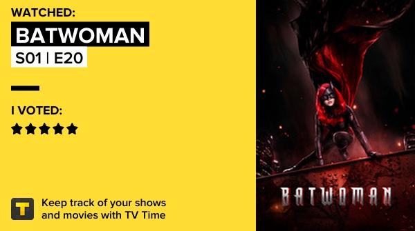 Je viens de regarder l'épisode S01 | E20 de Batwoman! #batwoman   #tvtime