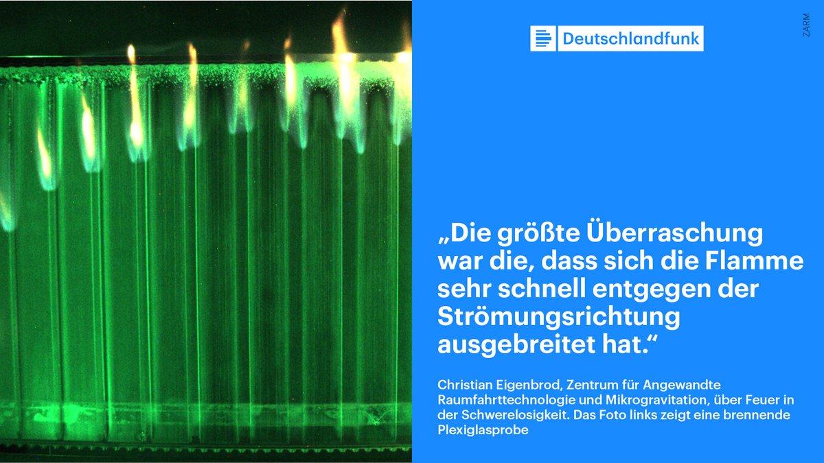 Brandexperiment im Orbit - Wie löscht man Feuer in der Schwerelosigkeit? Das Interview mit Christian Eigenbrod von der Universität Bremen hier zum Nachhören  [Audiolink] /hes