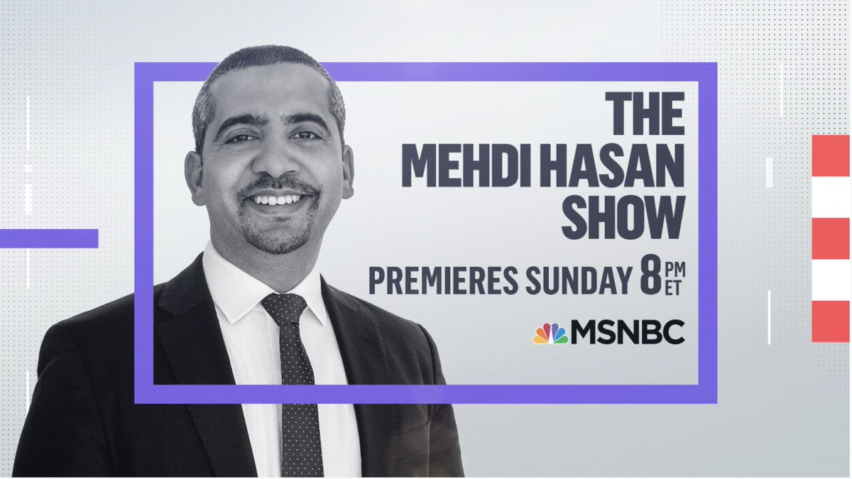 JUST ANNOUNCED: @mehdirhasan is coming to Sunday nights on @MSNBC.   Tune in to The @MehdiHasanShow starting this Sunday 2/28 at 8pm ET.   He will be joined by his first guest @AOC.