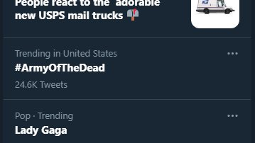 #ArmyOfTheDead trending