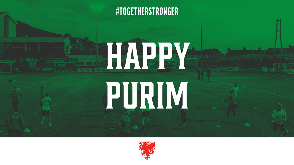 We would like to wish a #HappyPurim to all those celebrating throughout the Welsh football family this evening!  #TogetherStronger