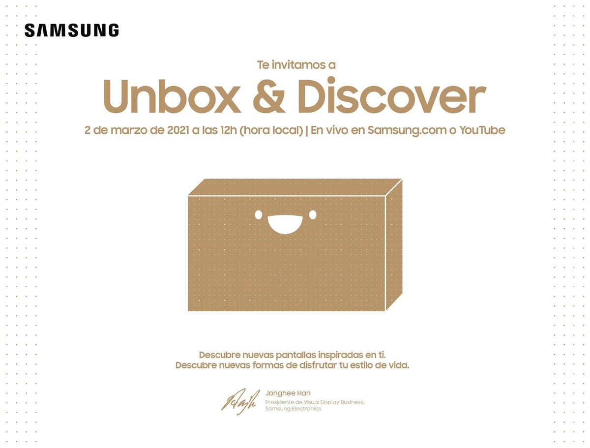 Te invito al nuevo evento de Samsung Chile este 2 de marzo a las 12 horas #samsungChile #GalaxyS21