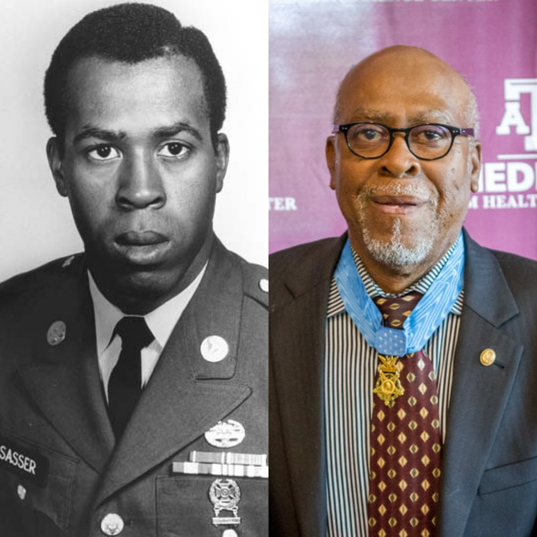 For #BlackHistoryMonth, we look at Black leaders who have impacted A&M & the #AggieNetwork. Clarence Sasser '73 is the first Aggie African-American Medal of Honor recipient & a 2014 Distinguished Alumnus, the highest honor for a former student. More at .