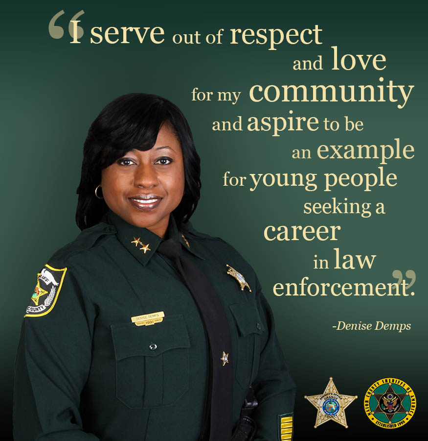 Meet @OrangeCoSheriff Chief Deputy Denise Demps - the first Black woman to serve in that position in the office's history - and learn about why she serves #BlackHistoryMonth