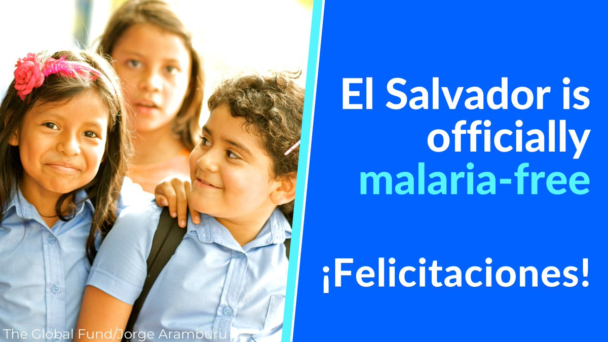 Today, #ElSalvador🇸🇻 marks a major milestone in its long fight against #malaria🦟, becoming the 1st Central American country to receive @WHO malaria-free certification, proving that #EliminationIsPossible. Congratulations #ElSalvador!  Read our statement➡️https://t.co/o7sj9nhh3f https://t.co/LAdik0uqMB