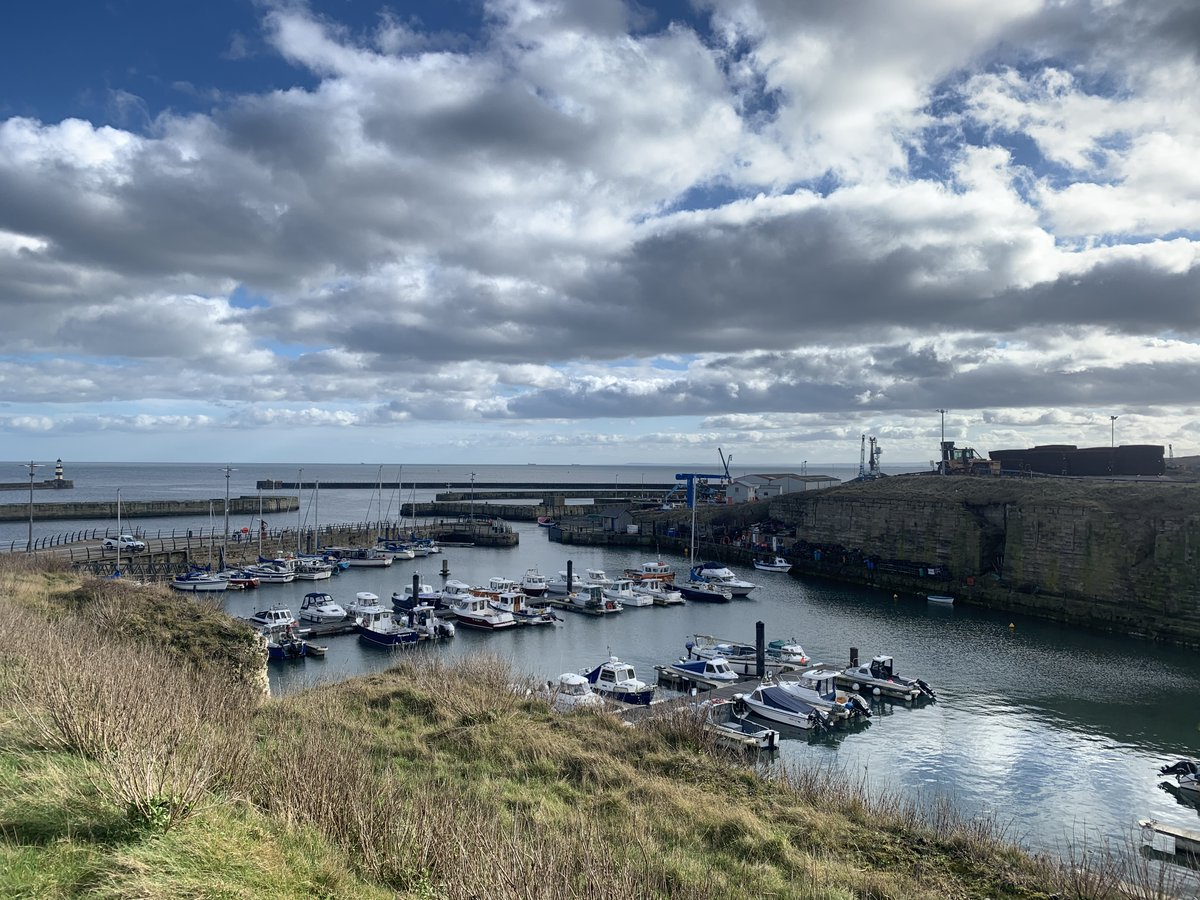 A lovely afternoon walk in the sunshine with Mother dearest and lunch at #Seaham Harbour, #CountyDurham. #OceanView #Durham #Coastline #Seal #Sealife #ThirdLockDown #NorthEastEngland. #ThursdayThoughts, #Spring is just around the corner...☀️🐟🌊⚓️