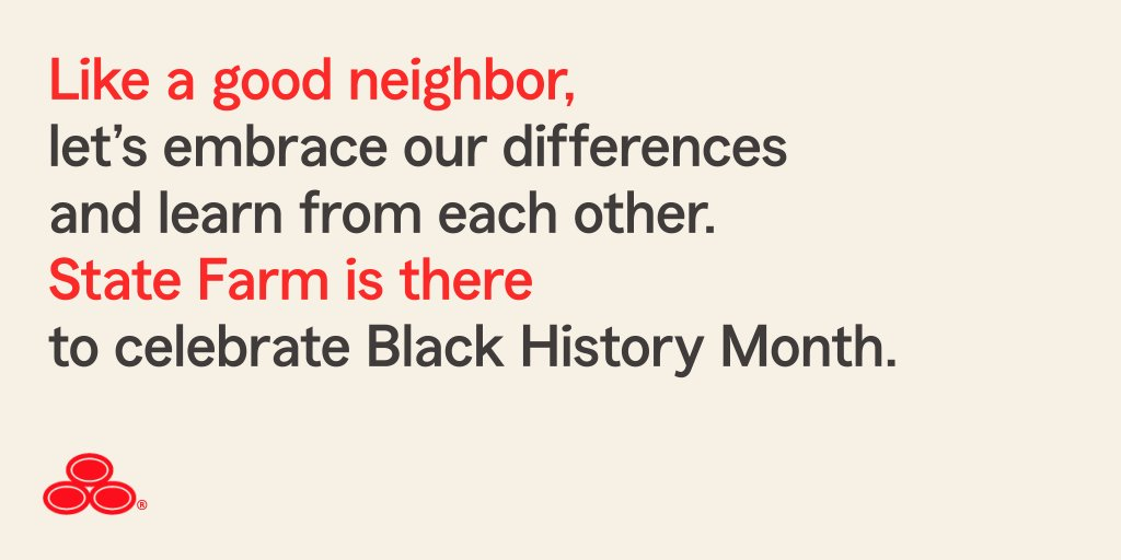 My team and I believe that diversity makes stronger neighborhoods where all are welcome. Like a good neighbor, State Farm is there.® #BlackHistoryMonth #GoodNeighbor