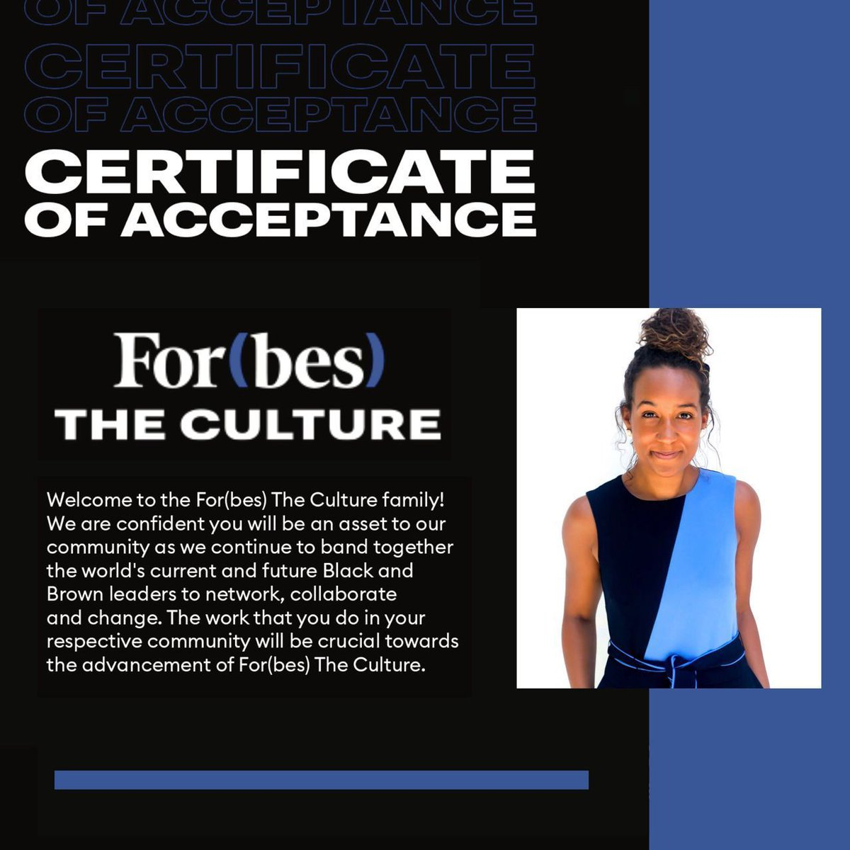 In honor of #BlackHistoryMonth, we are so excited to share that our founder Jasmine was recently selected for to join the For(bes) The Culture family! ! 🎉 It has the mission to create equitable pathways for Black + Brown professionals.  ⚡️