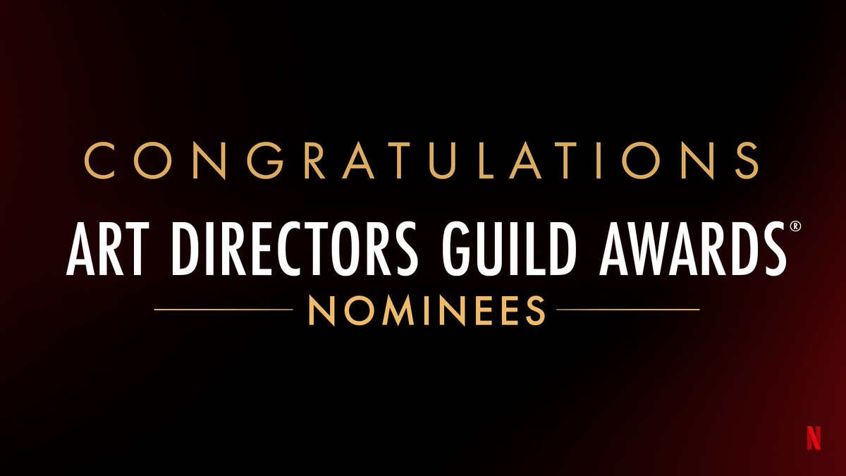 Congratulations to our Art Directors Guild Awards nominees! 🏆