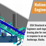GSA Structural and Mechanical Engineers work together to develop a bracing plan for mechanical systems in response to an earthquake in Anchorage, Alaska. #NationalEngineersWeek