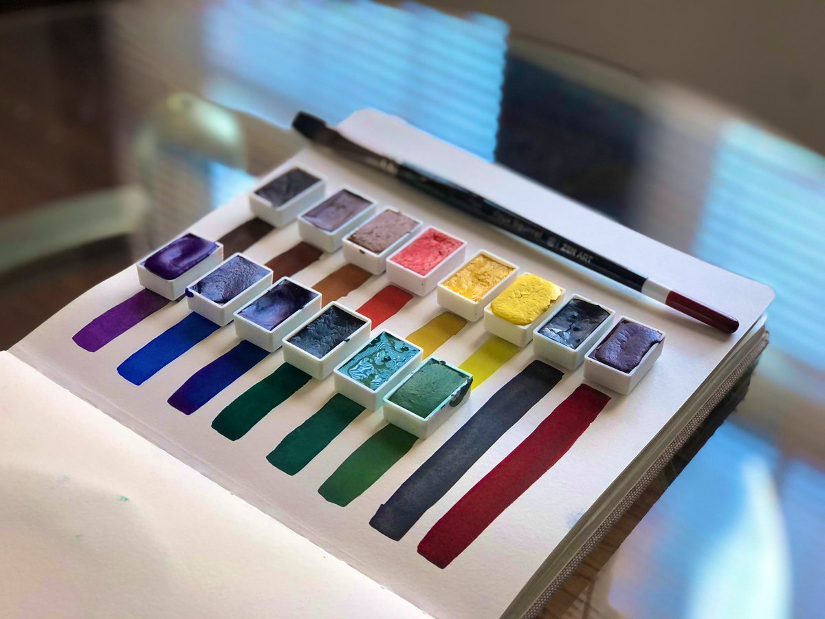 Nice! 🧑🏾🎨 swatch pics for ! 🌈Handmade and black-owned! GET YOUR PAINTS TODAY 🎨  Rt for exposure