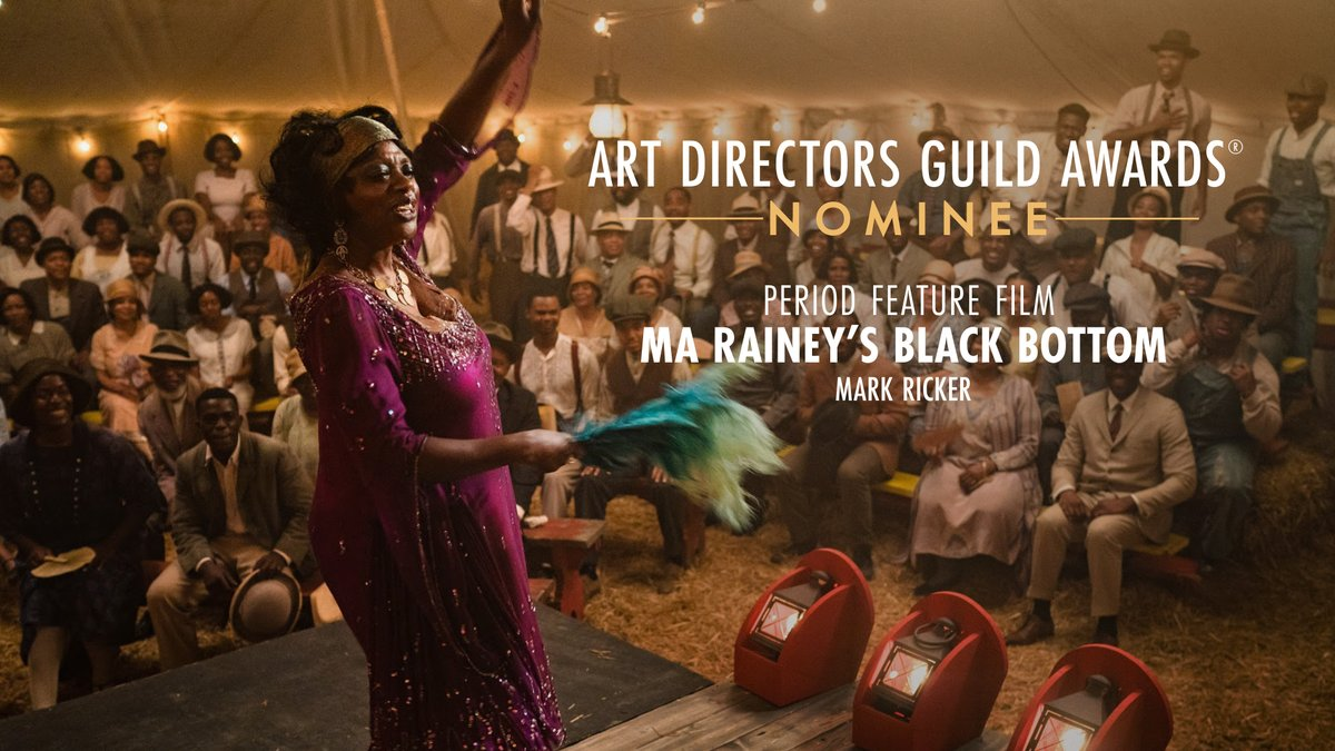 .@MaRaineyFilm is nominated for Period Feature Film at the 25th Annual ADG Awards!