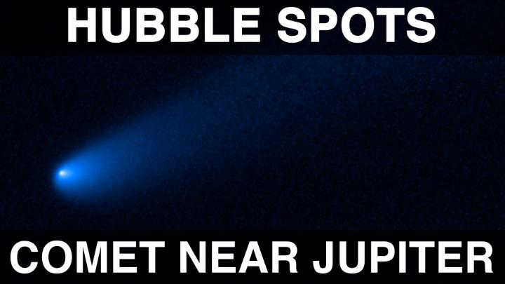 🛑 Pit stop!  Hubble spotted a comet that found a temporary parking place near Jupiter's asteroids. This is the first time a comet-like object has been seen near these asteroids, called Trojans, but this unexpected guest won't stay for long. Find out more: