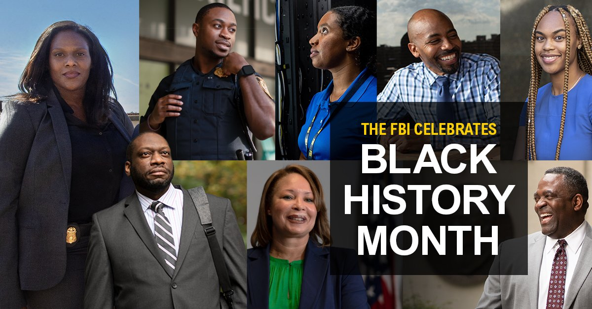 As we celebrate #BlackHistoryMonth, the #FBI values the diversity of our workforce and the communities we serve. We honor and thank our African American colleagues for their contributions to the FBI and the country.