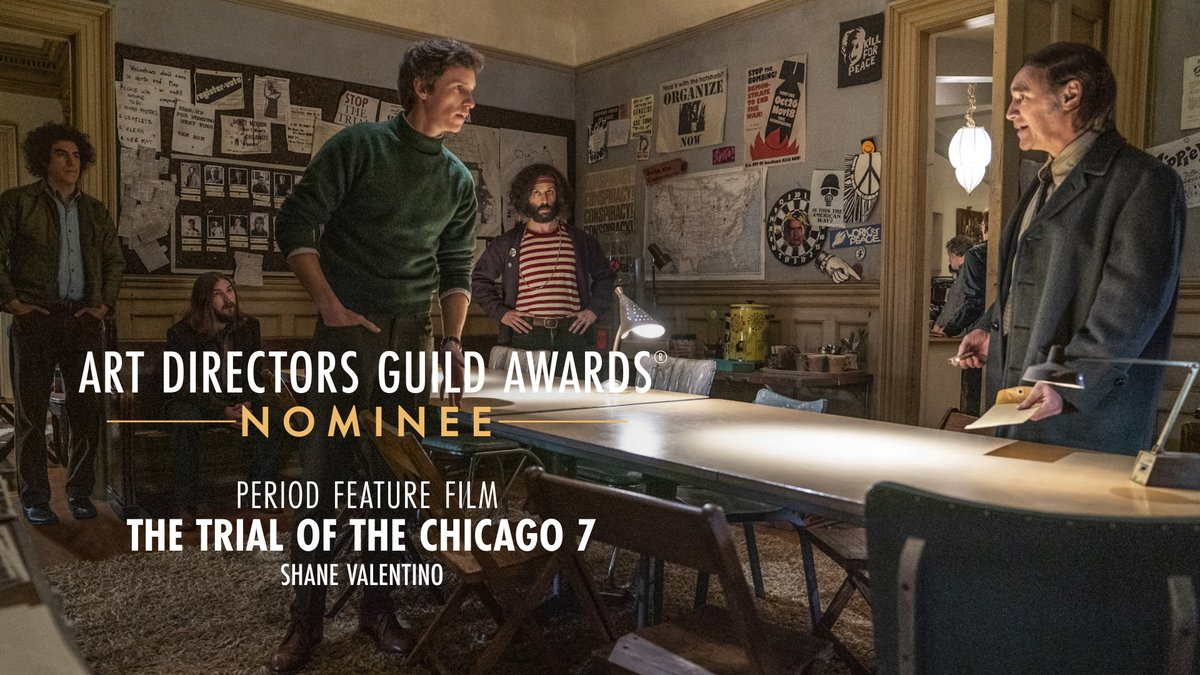 .@trialofchicago7 is nominated for Period Feature Film at the 25th Annual ADG Awards!
