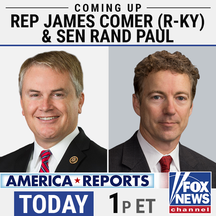 THURSDAY: Republicans on the House Oversight Cmte calling on Gov. Cuomo to testify about the nursing home scandal- @RepJamesComer here with details. PLUS @RandPaul reacts to the Biden administrations policy toward immigration. Join @SandraSmithFox & @johnrobertsFox LIVE 1PM ET!