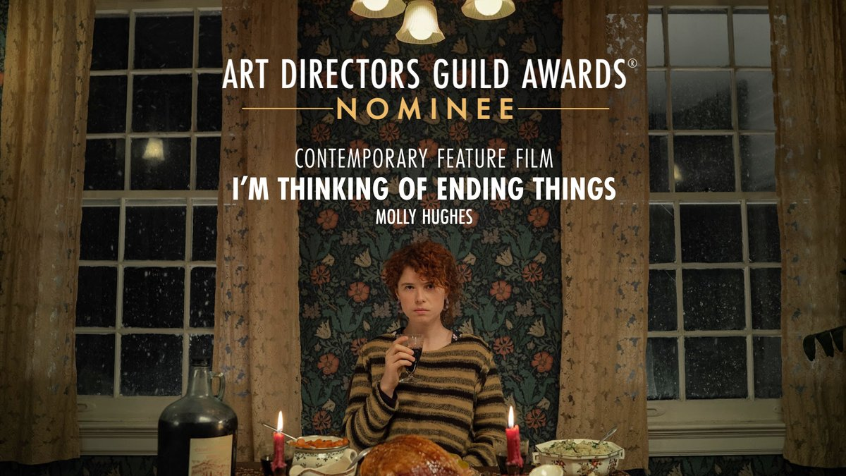 I'm Thinking of Ending Things is nominated for Contemporary Feature Film at the 25th Annual ADG Awards!