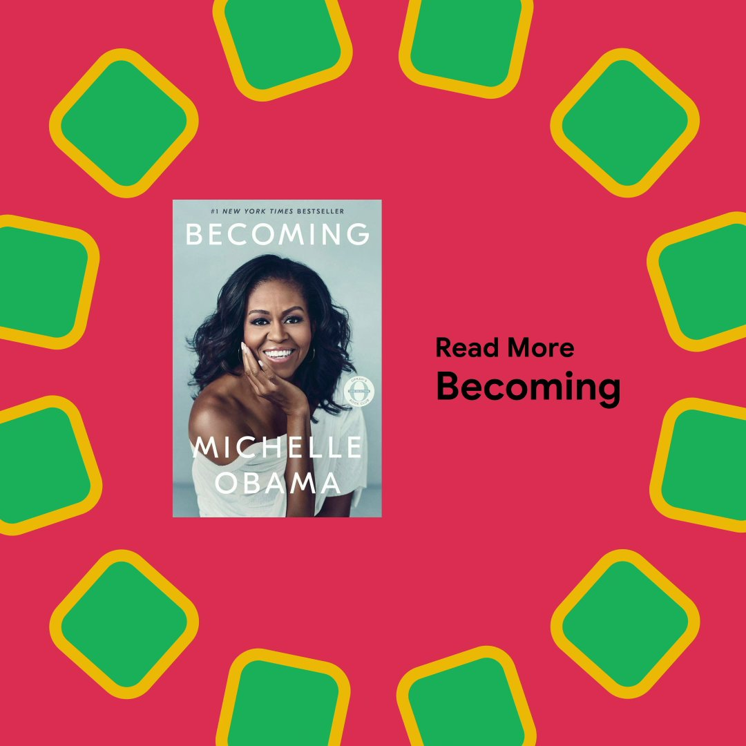 Attorney, mother, First Lady, and icon: @MichelleObama's journey is nothing less than empowering 🙌  Find the memoir that's captivated millions on Google Play 📚