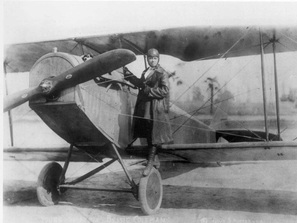 Black History Fact #25  - Bessie Coleman -  First African American and Native American pilot  #BlackHistoryMonth