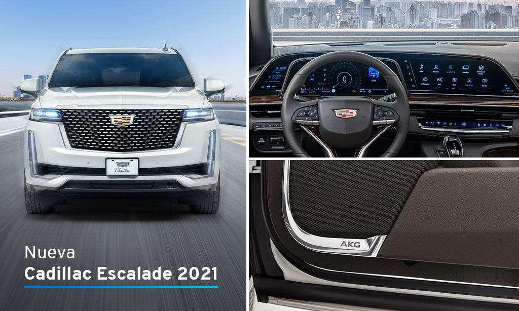 Dos excelentes razones para tener la nueva #CadillacEscalade 2021. #TheSuccessBehindTheIcon 1. Primera pantalla curva OLED de la industria 2.Exclusivo sistema de audio AKG https://t.co/4iLBPJddrK