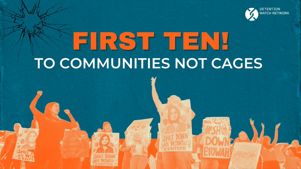 Biden has yet to address ICE's detention system.  2020 was the deadliest fiscal yr in ICE custody since 2005. W/ detention #'s currently at their lowest in 20 yrs, #FirstTen to #CommunitiesNotCages underscores the urgent need to close detention centers & release people now. 2/15