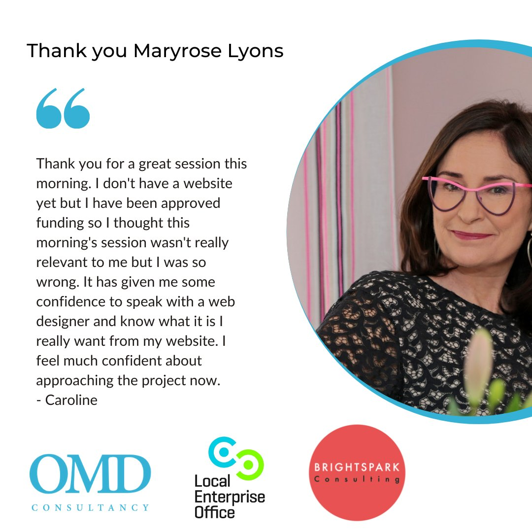 Thank you @maryrose for giving two superb workshops with the Superior Retailing Programme this week. We've had some amazing feedback so far from participants but we had to share this lovely testimonial from Caroline. #superiorretailingprogramme https://t.co/WyyIWGpHDy