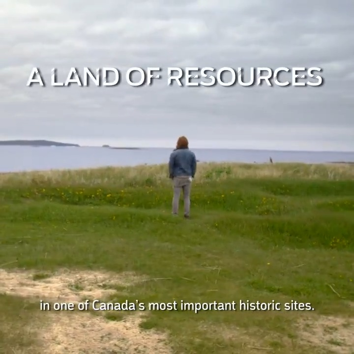 Image for the Tweet beginning: .@EricJJohnson79 visits Anse aux Meadows