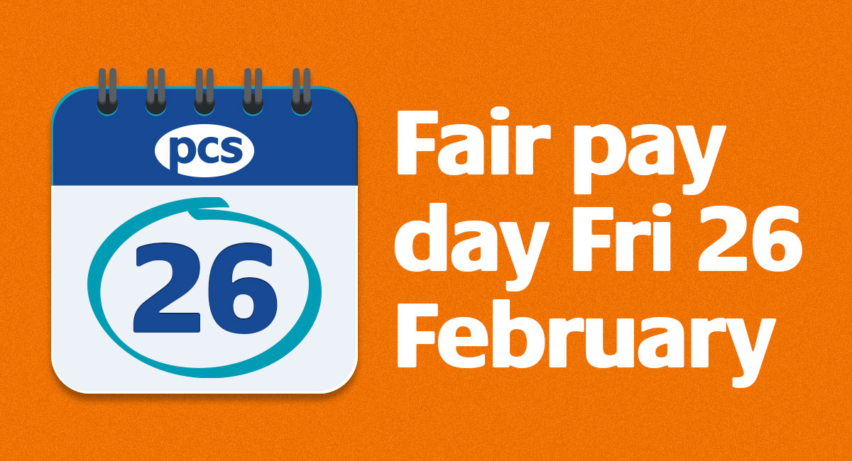 #PCS members, get involved in the campaign to scrap the public sector pay freeze and fight for fair pay this payday.  #FairPayDay #scrapthecap #NoPayFreeze