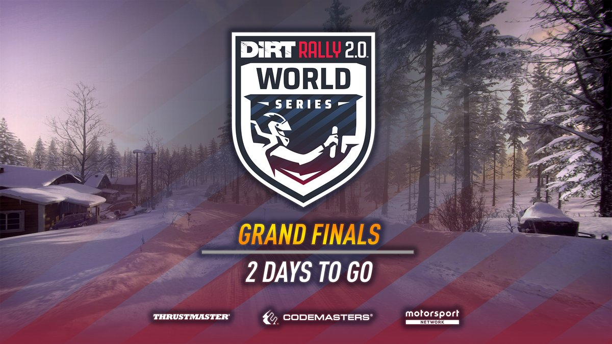 Our drivers are getting ready... 💪🏻  Join us this Saturday for the Grand Finals of the #DiRTRally 2.0 World Series! 🏆  Watch live on DIRT's YouTube or Facebook pages, Codemasters' Twitch or
