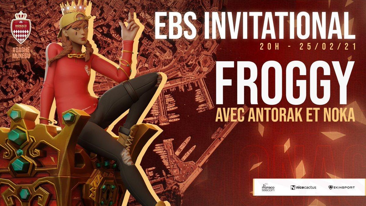 #Fortnite | EBS INVITATIONAL 🏆  Entrainement pour les #FNCS ce soir pour nos joueurs ! 😎  ✦ @Froggy_FTN w/@Antorak_, @NokaFTN ✦ @dukeyfn_ w/@nadjimood, @MarvinFTN  🕰️ 20h   L'occasion de confirmer leur bonne forme du moment ! 👊  #DagheMunegu 🇲🇨
