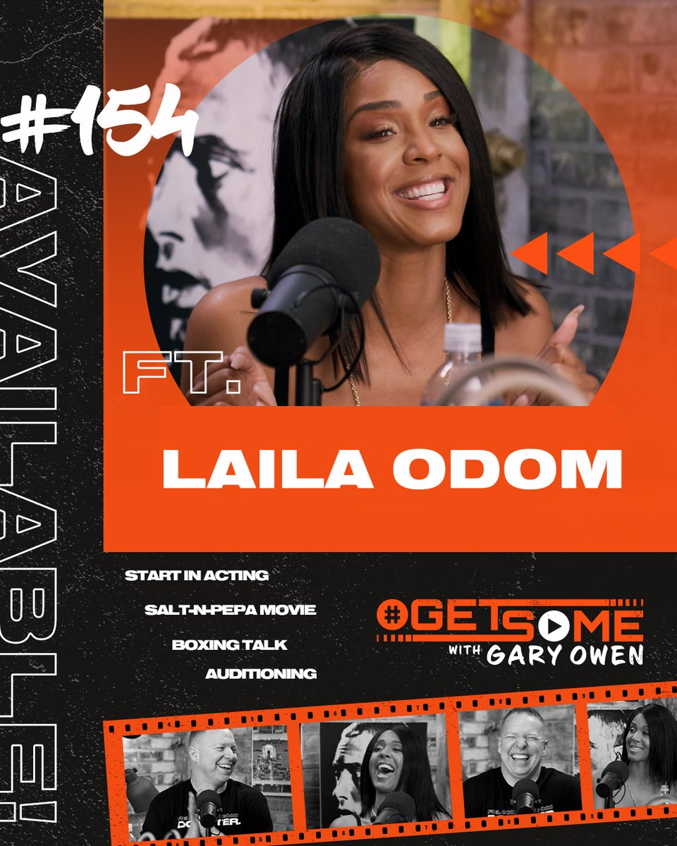 Today on #GetSome , actress @LAILAODOM star of the Salt N Pepa movie joins me as we talk about Undercover Brother 2, playing Pepa in the Salt N' Pepa movie and boxing.   #Getsome Ep. 154 premieres on my YouTube channel - today at 10amPT, 1pm ET! - https://t.co/I54daFgQwa https://t.co/tQlpR0HwUi