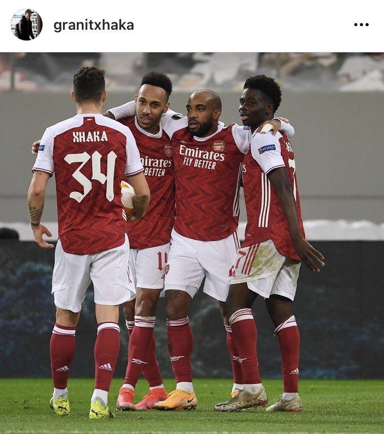 "Granit Xhaka on Instagram: ""THAT'S WHAT I'M TALKING ABOUT! BIG heart, BIG desire, BIG WIN 💪💪💪"" [IG: granitxhaka] #afc"
