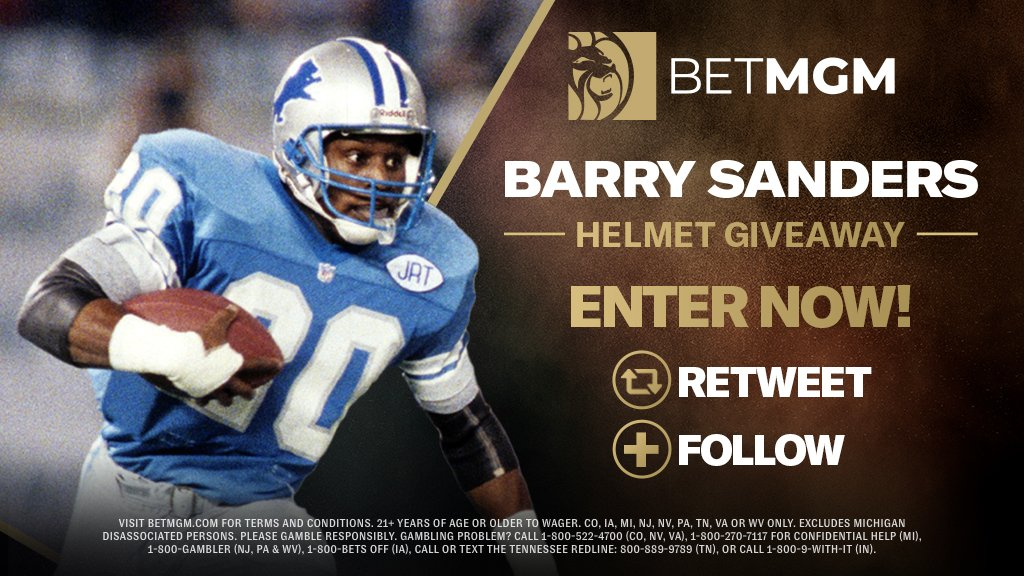 Time to win those signed #HallofFame mini helmets courtesy of @BetMGM   Here how to enter:  Simply: 1) Retweet this tweet 2) Follow @BetMGM   Good luck - 2 winners will be selected at random