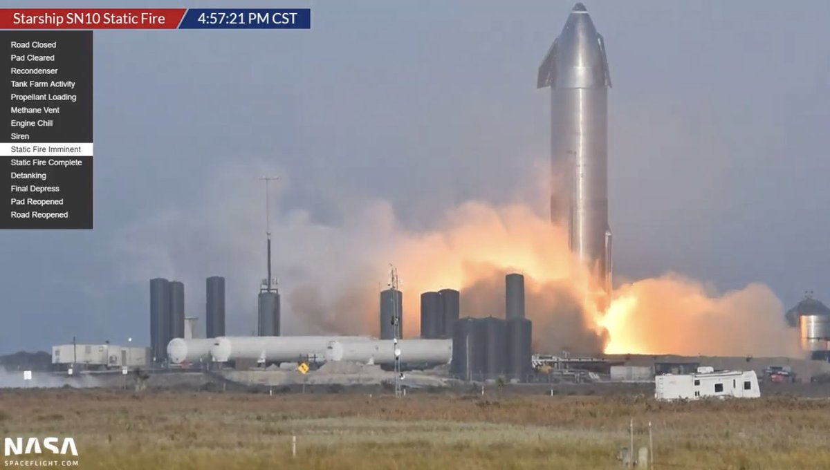 Starship SN10 static fire!!! 🔥