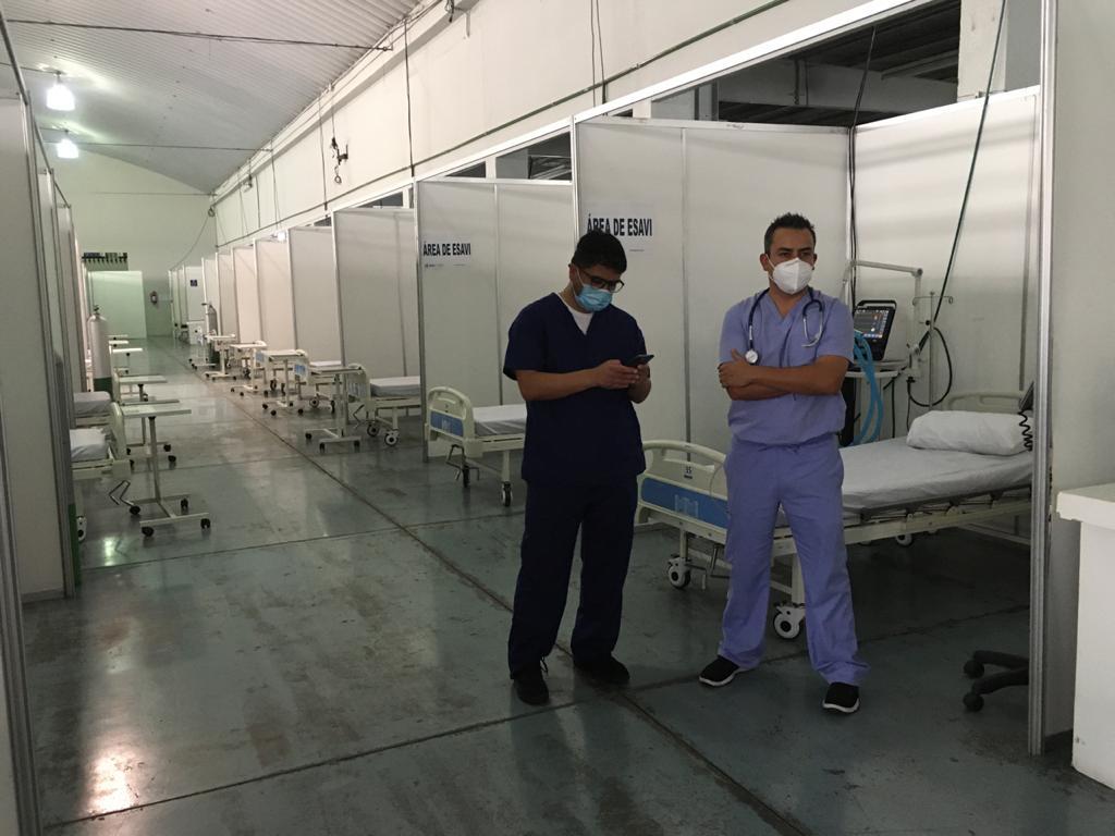 test Twitter Media - En estos módulos estarán las personas que serán vacunadas esta tarde que serán aproximadamente 60 personas. Foto: José Orozco https://t.co/lgx5Pl5mnZ