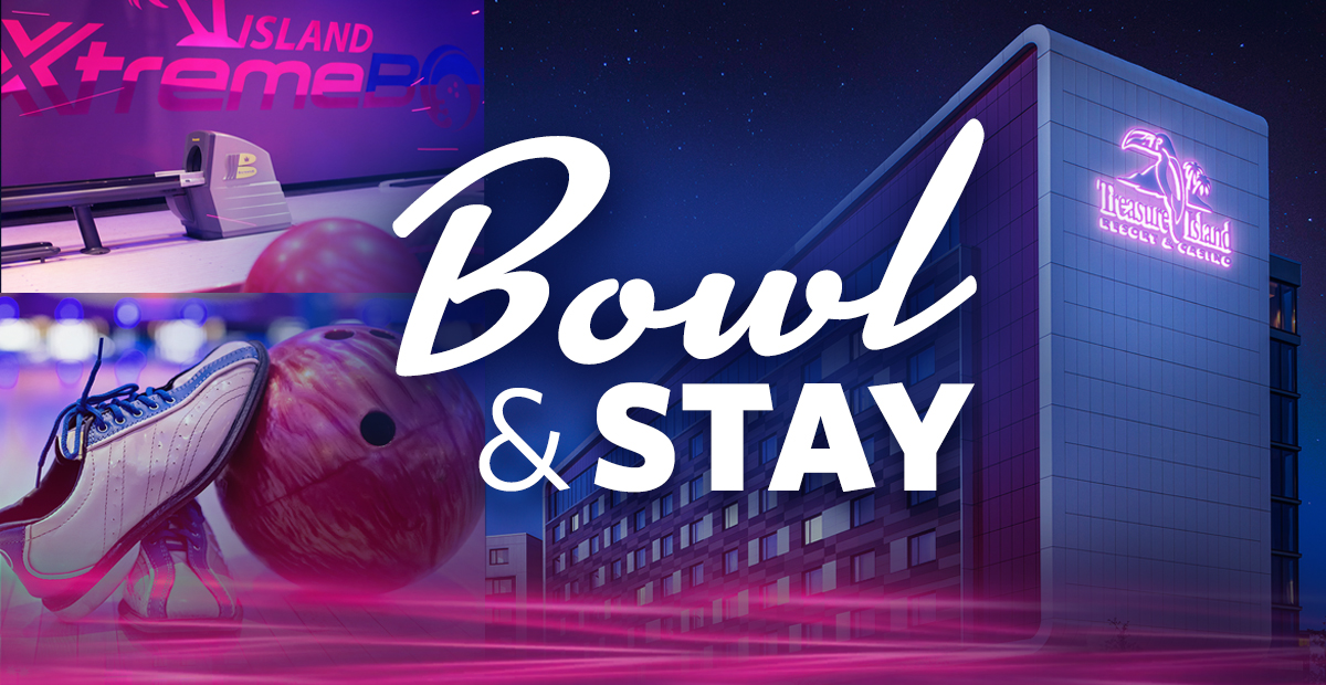 Hit the lanes with our Bowl & Stay hotel package! Book now and you'll receive a one-night stay, one hour of Cosmic Bowling and shoes for up to four people. Call 1-888-867-7829 for reservations. 🎳  #DestinationFun #Bowling