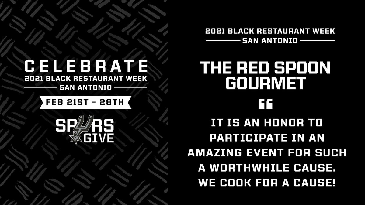 It's Black Restaurant Week San Antonio! Today, we are spotlighting The Red Spoon Gourmet, a catering company focused on making positive social change through food in San Antonio and Austin.   Here's what participating in @BRWSanAntonio means to them: