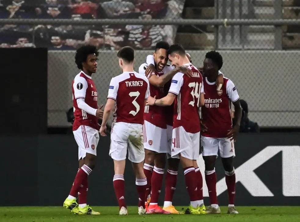 Arsenal left it very late against Benfica, winning 3-2 thanks to an 87th minute goal from Pierre-Emerick Aubameyang.  Had he not scored, they would have gone out!  More on:   #Arsenal #ArsenalFC #AFC #ARSSLB #UEL #EuropaLeague #UEFAEuropaLeague #Benfica