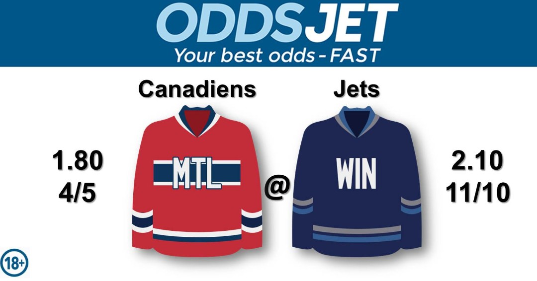 #NHL, #HockeyIsBack,   #Canadiens, #GoHabsGo, #MontrealCanadiens, vs. #WinnipegJets, #WPGJets, #NHLJets, #GOJetsGO, Get your best odds - fast at