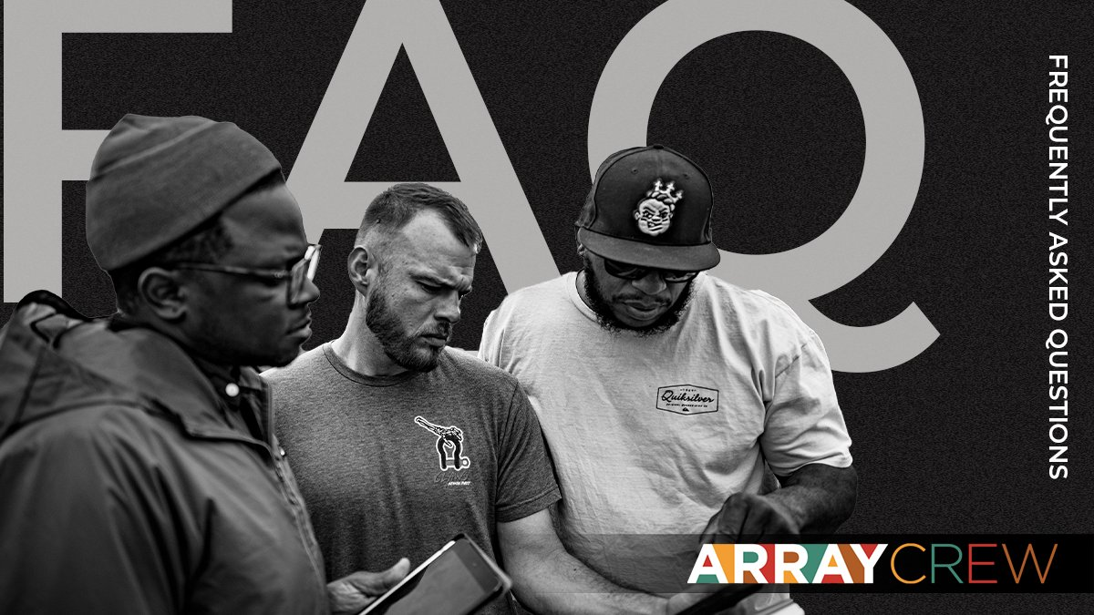 We are so grateful for all of your love and support for ARRAY Crew.  To learn more about the platform, swipe through our FAQs for quick resourceful answers!  #FindYourCrew at