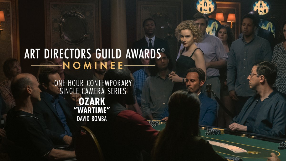 Ozark is nominated for One-Hour Contemporary Single-Camera Series at the 25th Annual ADG Awards!