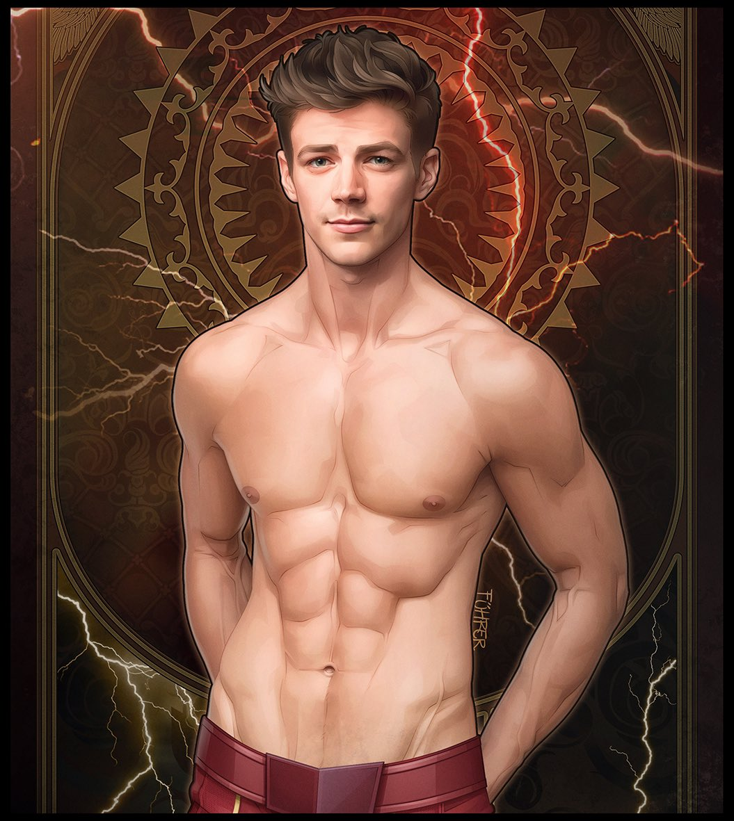 Grant Gustin Abs