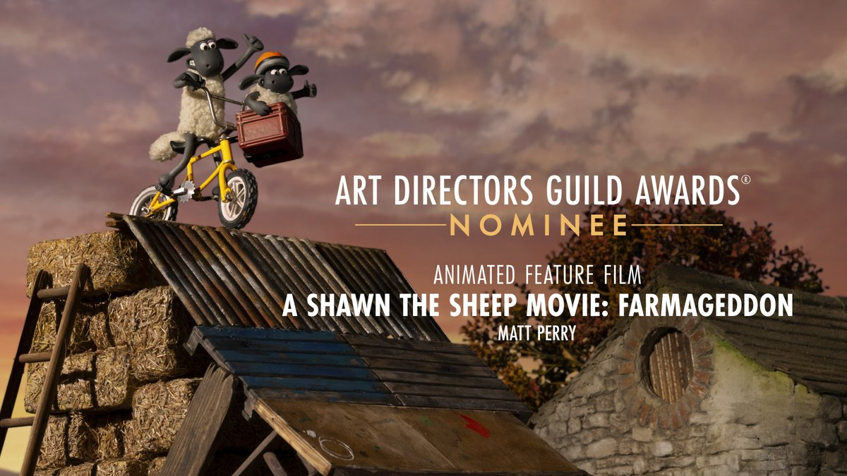 A Shawn The Sheep Movie: Farmageddon is nominated for Fantasy Feature Film at the 25th Annual ADG Awards!