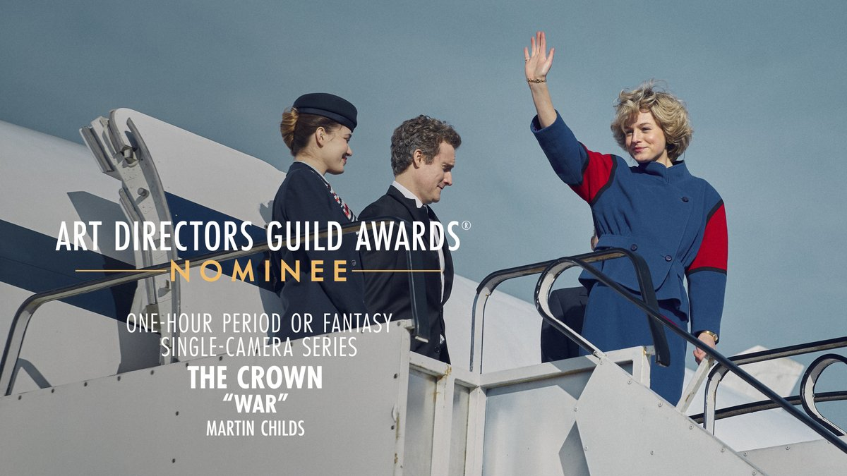 .@TheCrownNetflix is nominated for One-Hour Period or Fantasy Single-Camera Series at the 25th Annual ADG Awards!
