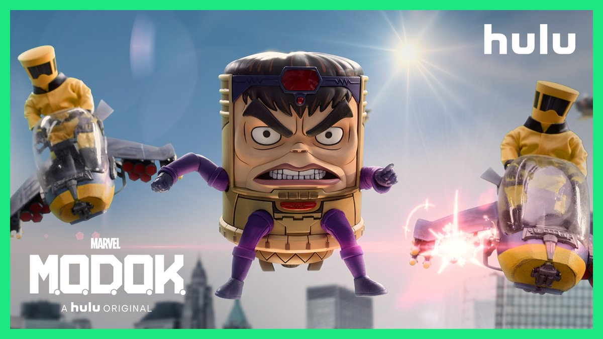 "Let there be...M.O.D.O.K.! ""Marvel's M.O.D.O.K."" premieres May 21, only on @Hulu. #MODOKHulu"
