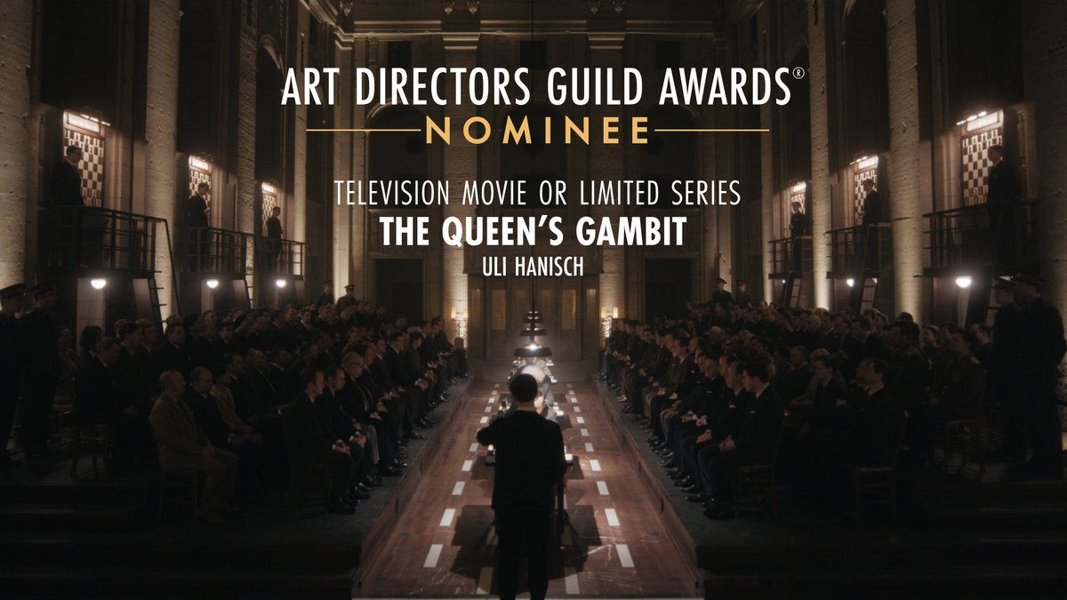 The Queen's Gambit is nominated for Television Movie or Limited Series at the 25th Annual ADG Awards!