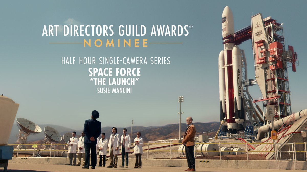 .@realspaceforce is nominated for Half Hour Single-Camera Series at the 25th Annual ADG Awards!